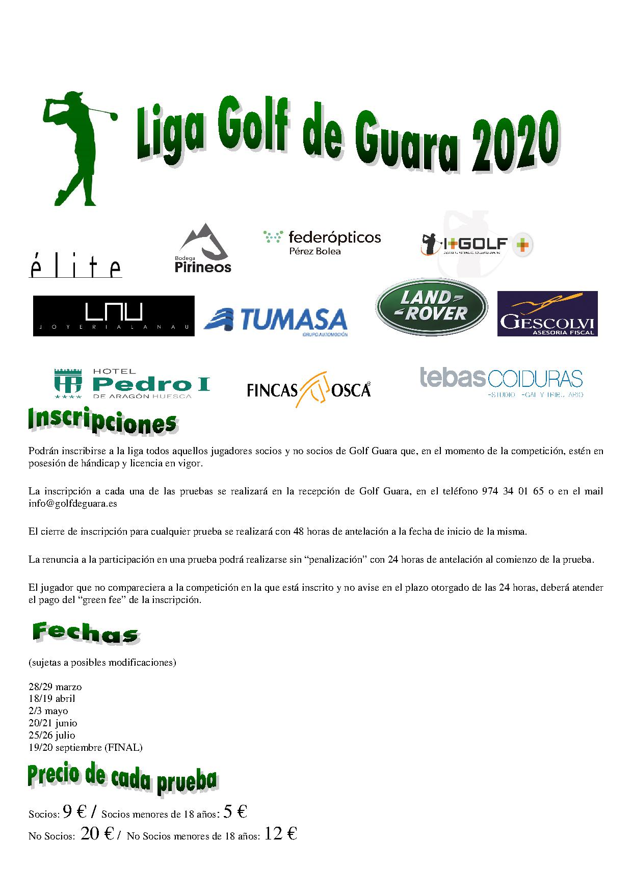 NORMAS LIGA GOLF GUARA CON LOGOTIPOS 2020