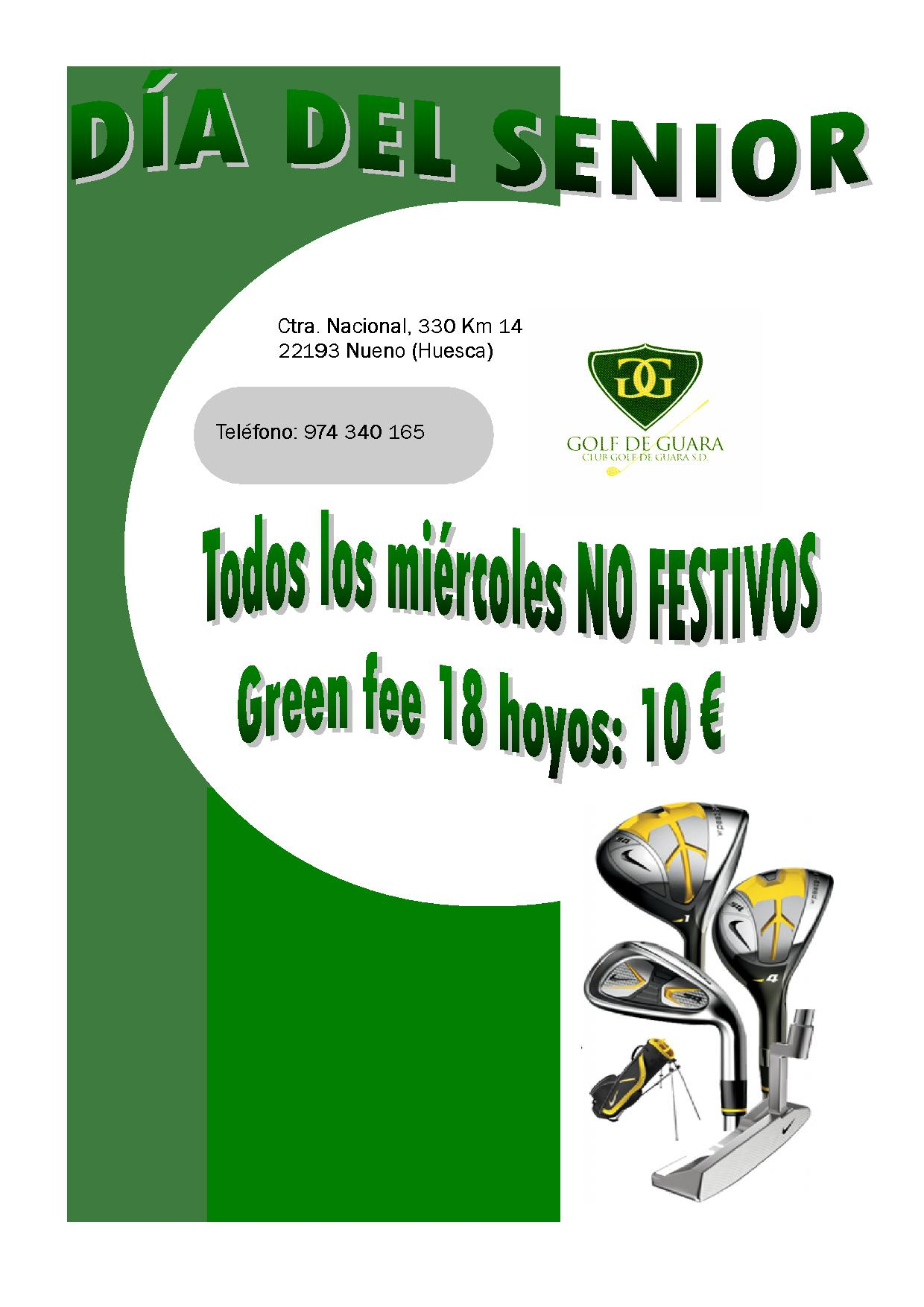OFERTA senior GREEN FEES
